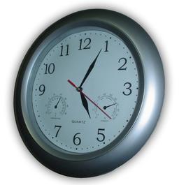 Horloge murale avec baromètre et thermomètre. Source : http://data.abuledu.org/URI/529afc0a-horloge-murale-avec-barometre-et-thermometre