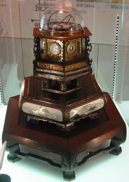 Horloge perpétuelle japonaise. Source : http://data.abuledu.org/URI/529b124d-horloge-perpetuelle-japonaise