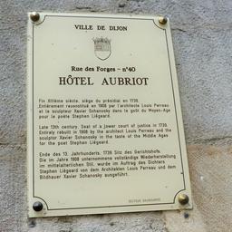 Hôtel Aubriot 40 rue des forges à Dijon. Source : http://data.abuledu.org/URI/59d47458-hotel-aubriot-40-rue-des-forges-a-dijon
