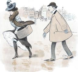 Humour parisien en 1900. Source : http://data.abuledu.org/URI/5385b342-humour-parisien-en-1900