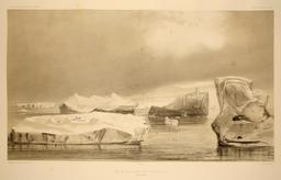 Icebergs en 1838. Source : http://data.abuledu.org/URI/598045ce-icebergs-en-1838