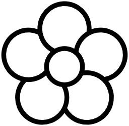 Icone de fleur à cinq pétales. Source : http://data.abuledu.org/URI/514eb9fa-icone-de-fleur-a-cinq-petales