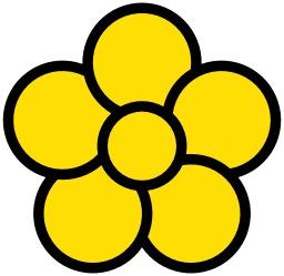 Icone de fleur jaune à cinq pétales. Source : http://data.abuledu.org/URI/514ebaa2-icone-de-fleur-jaune-a-cinq-petales