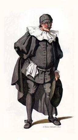 Il Dottore Balanzone en 1653. Source : http://data.abuledu.org/URI/51c152d7-il-dottore-balanzone-en-1653