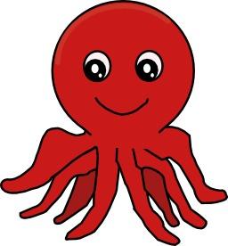 Image de poulpe rouge. Source : http://data.abuledu.org/URI/5473a839-image-de-poulpe-rouge