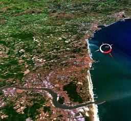 Image satellite du Pays Basque au sud de l'Adour. Source : http://data.abuledu.org/URI/527ff10e-image-satellite-du-pays-basque-au-sud-de-l-adour
