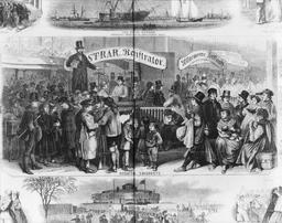 Immigrants à New York City en 1866. Source : http://data.abuledu.org/URI/56c62eb8-immigrants-a-new-york-city-en-1866