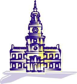 Independence Hall à Philadelphie. Source : http://data.abuledu.org/URI/504bd571-independence-hall-a-philadelphie