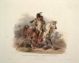 Indien pied noir à cheval . Source : http://data.abuledu.org/URI/53b9141a-indien-pied-noir-a-cheval-