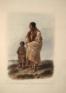 Indienne Dakota avec fillette. Source : http://data.abuledu.org/URI/53b925be-indienne-dakota-avec-fillette