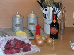 Ingrédients pour une carbonade. Source : http://data.abuledu.org/URI/51dc35b1-ingredients-pour-une-carbonade