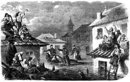 Inondation à Bucarest en 1862. Source : http://data.abuledu.org/URI/58b30e67-inondation-a-bucarest-en-1862