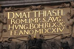 Inscription au château de Prague en 1614. Source : http://data.abuledu.org/URI/53a83c83-inscription-au-chateau-de-prague-en-1614