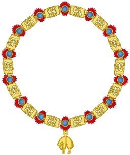 Insigne de chevalier de la Toison d'Or. Source : http://data.abuledu.org/URI/53079c13-insigne-de-chevalier-de-la-toison-d-or
