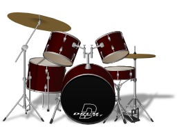 Instruments à percussion : Batterie. Source : http://data.abuledu.org/URI/50d5c4c3-instruments-a-percussion-batterie