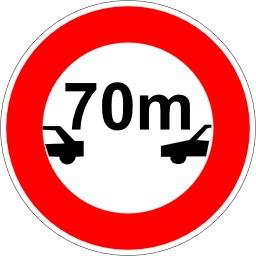 Interdiction de suivre à moins de 70 mètres. Source : http://data.abuledu.org/URI/51377388-interdiction-de-suivre-a-moins-de-70-metres
