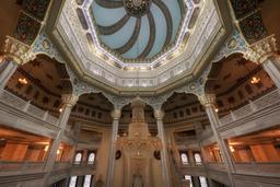 Intérieur de la mosquée de Moscou. Source : http://data.abuledu.org/URI/58cef25f-interieur-de-la-mosquee-de-moscou