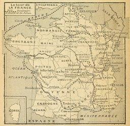 Itinéraire d'André et de Julien en 1877. Source : http://data.abuledu.org/URI/524f2708-itineraire-d-andre-et-de-julien-en-1877