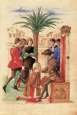 Jacopo Antonio Marcello et René d'Anjou en 1459. Source : http://data.abuledu.org/URI/596d6d97-jacopo-antonio-marcello-et-rene-d-anjou-en-1459