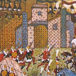 Janissaires ottomans au siège de Rhodes. Source : http://data.abuledu.org/URI/53087727-janissaires-ottomans-au-siege-de-rhodes