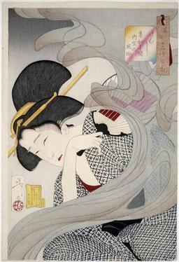 Japonaise de l'ère Kyowa. Source : http://data.abuledu.org/URI/527806fb-japonaise-de-l-ere-kyowa