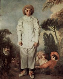 Jean-Antoine Watteau - Pierrot, dit autrefois Gilles. Source : http://data.abuledu.org/URI/51c1a753-jean-antoine-watteau-pierrot-dit-autrefois-gilles