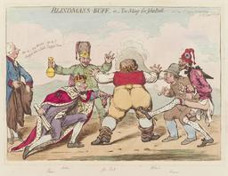 Jeu de colin-maillard politique européen en 1795. Source : http://data.abuledu.org/URI/52b368b9-jeu-de-colin-maillard-politique-europeen-en-1795