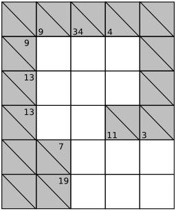 Jeu de Kakuro - 0. Source : http://data.abuledu.org/URI/52f7f0b2-jeu-de-kakuro-0