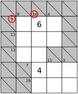 Jeu de Kakuro - 3. Source : http://data.abuledu.org/URI/52f7ef4c-jeu-de-kakuro-2