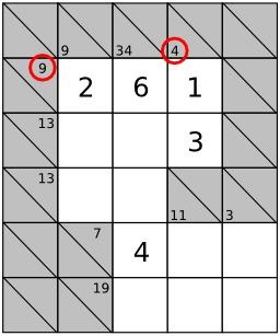Jeu de Kakuro - 4. Source : http://data.abuledu.org/URI/52f7ef99-jeu-de-kakuro-3