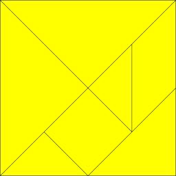Jeu de Tangram jaune. Source : http://data.abuledu.org/URI/52f694fd-jeu-de-tangram-jaune