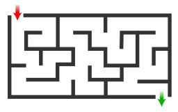 Jeu du labyrinthe. Source : http://data.abuledu.org/URI/53cd97cb-jeu-du-labyrinthe