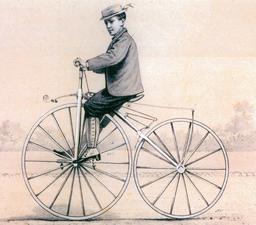 Jeune cycliste en 1868. Source : http://data.abuledu.org/URI/5316e2d5-jeune-cycliste-en-1868