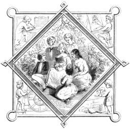 Jeunes lecteurs en 1847. Source : http://data.abuledu.org/URI/5962aeae-jeunes-lecteurs-en-1847
