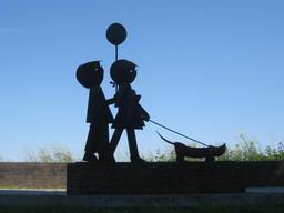 Jip et Janneke et leur chien Takkie. Source : http://data.abuledu.org/URI/53164d6b-jip-et-janneke-et-leur-chien-takkie