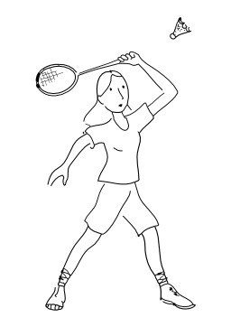 Jouer au badminton. Source : http://data.abuledu.org/URI/5026b70f-jouer-au-badminton