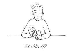 Jouer aux cartes. Source : http://data.abuledu.org/URI/5026b87c-jouer-aux-cartes