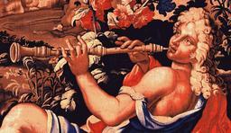 Joueur de haubois au XVIIème siècle. Source : http://data.abuledu.org/URI/5395b2bd-joueur-de-haubois-au-xviieme-siecle