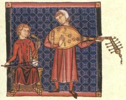 Joueurs de luth au XIIIème siècle. Source : http://data.abuledu.org/URI/5302a0a0-joueurs-de-luth-au-xiiieme-siecle