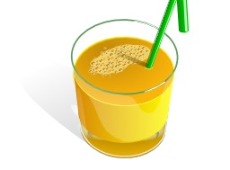 Jus d'orange avec paille. Source : http://data.abuledu.org/URI/5047bd63-jus-d-orange-avec-paille