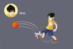 Kino joue au foot. Source : http://data.abuledu.org/URI/573e1ef2-kino-joue-au-foot