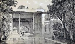 Kiosque de Hecht-Beïcht à Isfahan en 1840. Source : http://data.abuledu.org/URI/53dfc975-kiosque-de-hecht-beicht-a-isfahan-en-1840