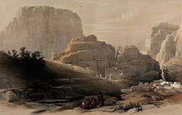 Kusr Faron à Petra en 1849. Source : http://data.abuledu.org/URI/54b5af5f-kusr-faron-a-petra-en-1849