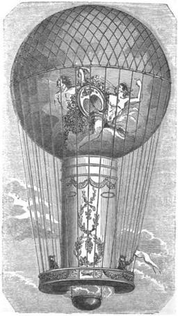 L'aéro-montgolfière de Pilâtre de Rozier en 1785. Source : http://data.abuledu.org/URI/51b05649-l-aero-montgolfiere-de-pilatre-de-rozier-en-1785