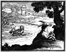 L'âne chargé d'éponges et l'âne chargé de sel. Source : http://data.abuledu.org/URI/510baaf6-l-ane-charge-d-eponges-et-l-ane-charge-de-sel