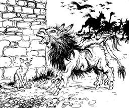 L'âne et la peau de lion. Source : http://data.abuledu.org/URI/47f5d094-l-ane-et-la-peau-de-lion