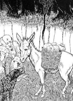 L'Âne et le Chien. Source : http://data.abuledu.org/URI/519c739a-l-ane-et-le-chien
