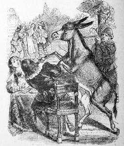 L'âne et le petit chien. Source : http://data.abuledu.org/URI/51f9ed82-l-ane-et-le-petit-chien