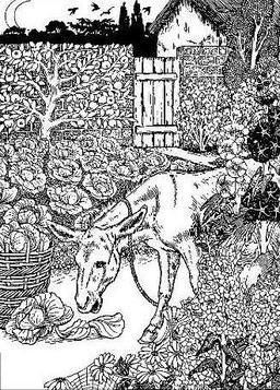 L'âne et ses maîtres. Source : http://data.abuledu.org/URI/519a8364-l-ane-et-ses-maitres