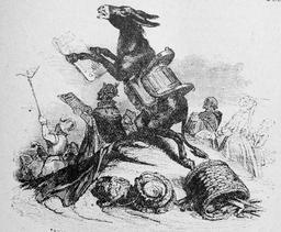 L'âne et ses maitres. Source : http://data.abuledu.org/URI/51f9ef28-l-ane-et-ses-maitres